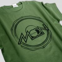 Moonshine Speaker T-shirt Military Green